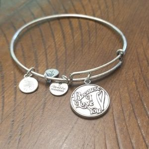 Alex and Ani bracelet- Because I love you
